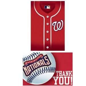 Lets Party By Amscan Washington Nationals Baseball   Invite & Thank