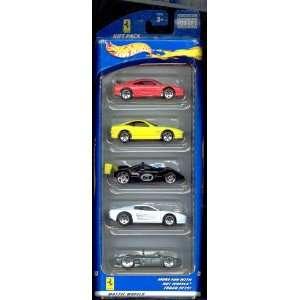 Hot Wheels 5 Car Gift Pack   Ferrari Toys & Games