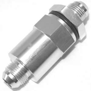 Inline High Flow Fuel Filter,  6 AN, Silver Automotive