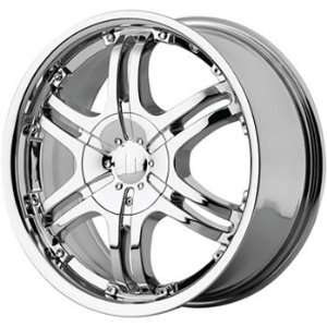 Helo HE832 17x7.5 Chrome Wheel / Rim 6x5 with a 42mm Offset and a 78