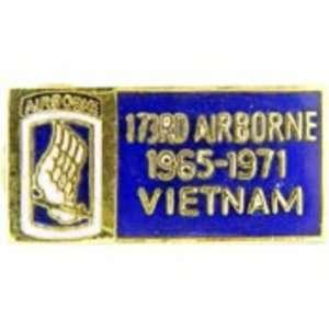 U.S. Army 173rd Airborne Division Vietnam Pin 1 1/8 Arts