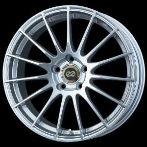 17x7 Enkei RS05 (Metallic Silver) Wheels/Rims 4x100 (433