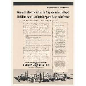 1960 GE General Electric New Space Research Center Print