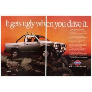 1987 Nissan Hardbody SE 4x4 Gets Ugly 2 Page Print Ad