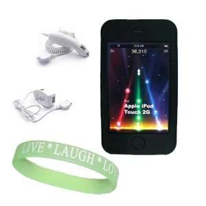Travel Charger + Itouch 3G Car Charger + Live*Laugh*Love Wrist Band