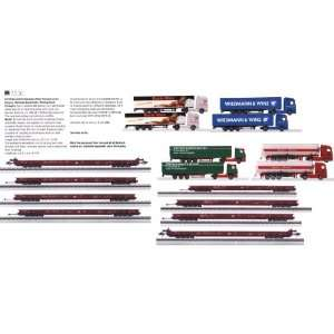 Floor Flat Cars & 8 Semi Trucks w/Display   Discontinued: Toys & Games