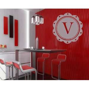 Letter V Monogram Letters Vinyl Wall Decal Sticker Mural Quotes Words