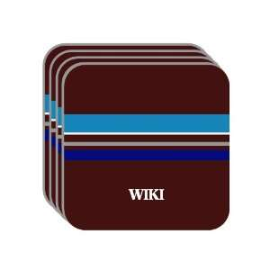 Personal Name Gift   WIKI Set of 4 Mini Mousepad Coasters (blue