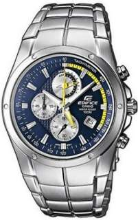 Casio Edifice Chrono Blue Dial Mens Watch EF516D 2A