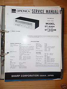 Service Manual Sharp SM 30H Amplifier,ORIGINAL