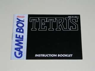 Tetris manual DMG TR USA 1   Nintendo Game Boy 045496730277