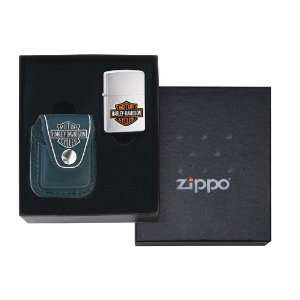 Zippo Harley Davidson Lighter and Pouch Gift Set Kitchen