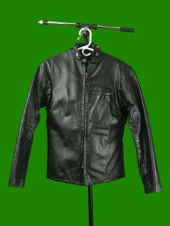 Vintage WOMENS BLACK LEATHER CAFE RACER MOTORCYCLE JACKET Top Gear 8