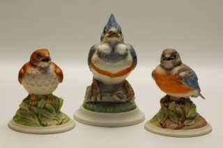 Bird Figurines 442 449 444W Kingfisher Baby Blue Bird Baby Wood Thrush