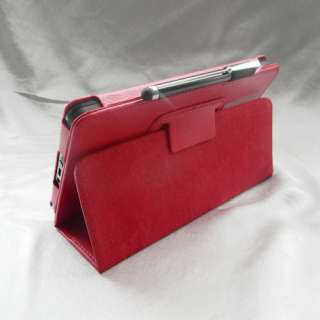Kindle Fire PU Leather Case Cover Stand Charger USB Cable