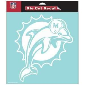 NFL Miami Dolphins 8 X 8 Die Cut Decal