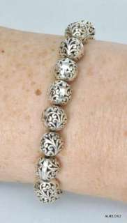 Gorgeous New LOIS HILL Large Round Cutout Sterling Silver Beads