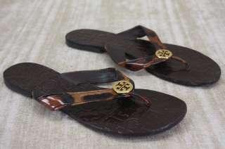 4df8d79bc ... Tory Burch Thora Leopard Patent Sandals Flip Flop Thongs flats size 6  ...