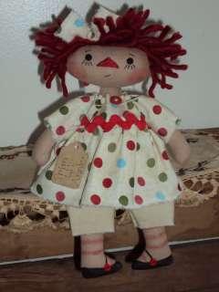 Primitive Raggedy Ann Polka Dots Lil Rag Doll Annie