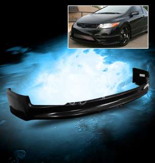 06 08 CIVIC 2DR COUPE MUGEN STYLE ABS FRONT BUMPER LIP SPOILER SKIRT