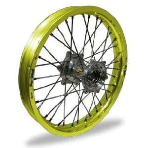 Wheel Pro Wheel 1.85x19 MX Rear Wheel   Yellow Rim/Silver Hub , Color