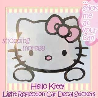 Hello Kitty Light Reflection Car Sticker x 1pc