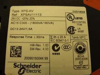 23232 NEW Telemecanique XPS AV11113 Safety Relay 24VDC