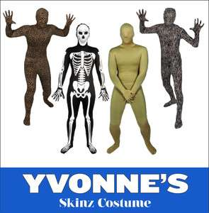 Night Full Body Lycra Skin Tight Gimp Suit Skinz Zentai Costume