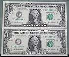 two consecutive 2003 a one dollar federal reserve star notes