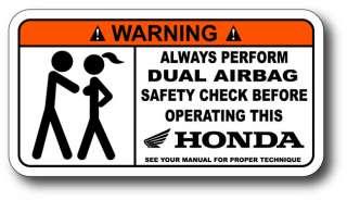 Airbag Check Honda Sticker Decal CBR 1000RR 600RR 250R