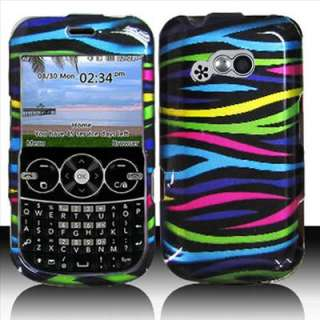 Rainbow Zebra Hard Case Cover Tracfone LG 900G Net 10
