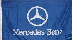 MERCEDES BENZ BLUE SIGN AUTO FLAG 3 X 5 BANNER