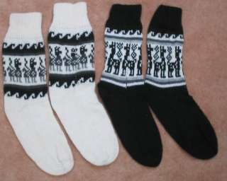 NEW 100% ALPACA WOOL YARN SOCKS   2 PAIRS, ANDEAN WINTER NATURAL