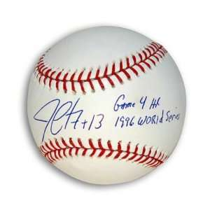 Jim Leyritz Autographed MLB Baseball Inscribed Game 4 HR