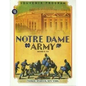 2010 Notre Dame Fighting Irish vs Army Black Knights Football Program