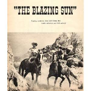 Gene Autry The Blazing Sun 1950 Western Picture with Champion the