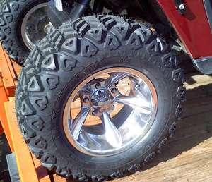 14 EFX Blade Golf Cart Tires w/ 14x7 Aluminum Bullet Wheels