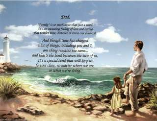 PERSONALIZED FATHER DAD POEM PRINT FATHERS DAY GIFT