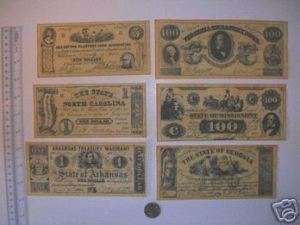 Confederate Currency Civil War, Reproduction A