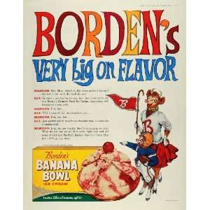 Bowl Ice Cream Beauregard Football   Original Print Ad Home & Kitchen
