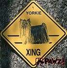 YORKIE Puppy Cut Terrier Dog Crossing XING Yellow SIGN