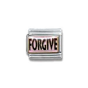 Forgive, Christian, Religious Theme Italian Charm Jewelry