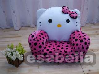 NEW HELLO KITTY CAT STUFFED ANIMAL SOFA KIDS CHAIR