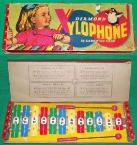 1950 DIAMOND XYLOPHONE CHILDS MUSIC INSTRUMENT TOY GAME