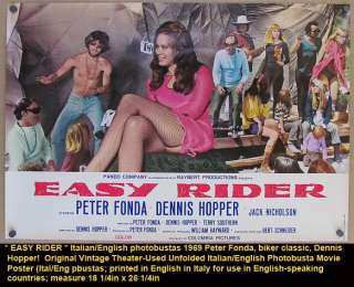 Original * EASY RIDER * 1969 Movie Poster Biker Classic Motorcycle