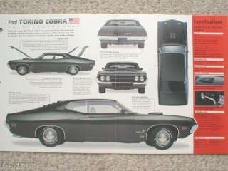 1970/1971 FORD TORINO COBRA 429 SPEC SHEET/Brochure