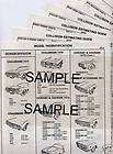 1983 1984 1985 1986 S BLAZER JIMMY BODY PARTS LIST CRASH SHEETS ^^