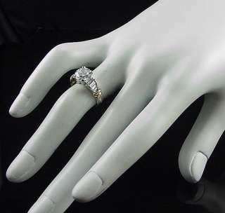 FABULOUS SCOTT KAY PLATINUM 18K DIAMOND ENGAGEMENT RING RETAIL $6800