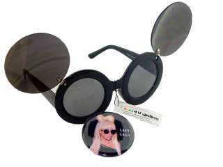 BUTTON PIN OF LADY GAGA WEARING SUN GLASSES BLACK DK