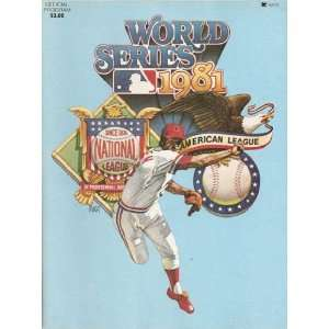 1981 New York Yankees vs Los Angeles Dodgers 1981 World Series Program